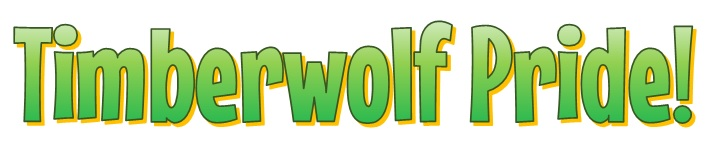 Image that says Timberwolf Pride in Green color.