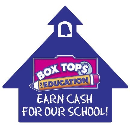 Image of a logo that says BOX TOP EDUCATION  - EARN CASH FOR OUR SCHOOL.