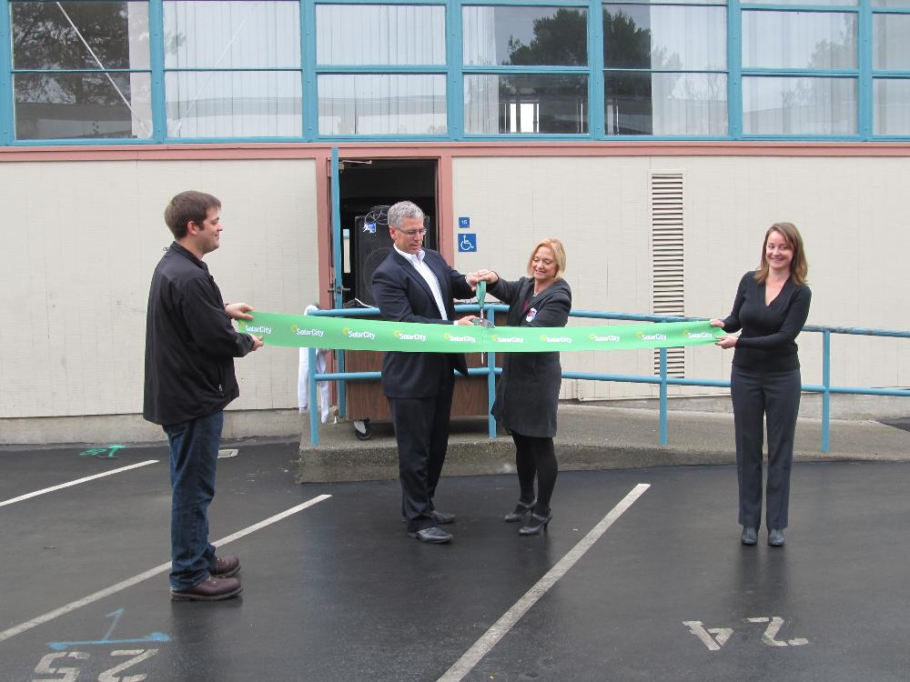Solar power ribbon cutting