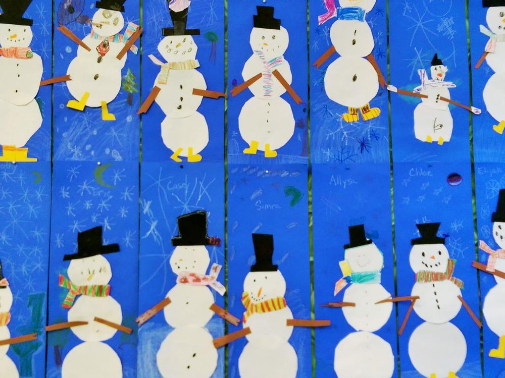 Winter snowmen from room 1!