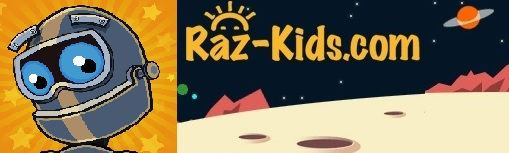 Image displayed of the Raz-Kids logo that connects you to the Raz Kids.com site.