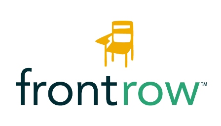 Logo image that says Front Row and includes a yellow chair that connects you to the Front Row program.