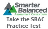 Image of the SBAC-Smarter Balanced Assessment Consortium logo - Take the SBAC Practice Test